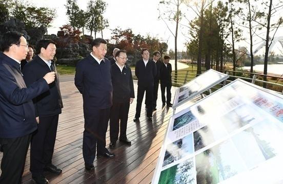 """考察调研运河三湾生态文化公园,习近平总书记夸赞""""扬州是个好地方"""""""